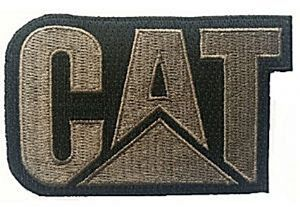 CAT black/gold iron-on/sew-on cloth patch  (os)